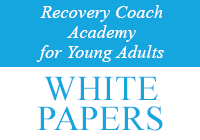 Blue & White Recovery Coach Academy White Papers Icon