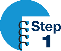 Blue Step 1 Icon