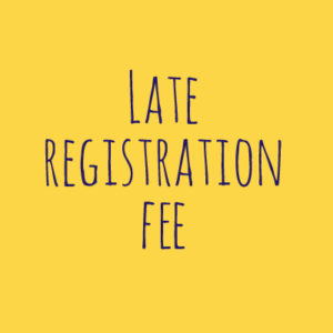 Yellow Late Registration Fee Icon